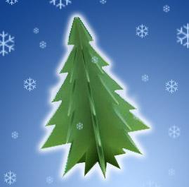 сделать елку из бумаги