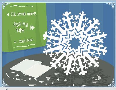 вырезаем красивую снежинку