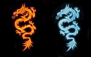 огненный дракон водяной дракон