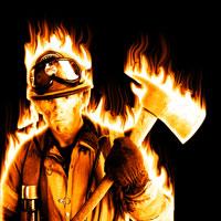 огонь в фотошопе