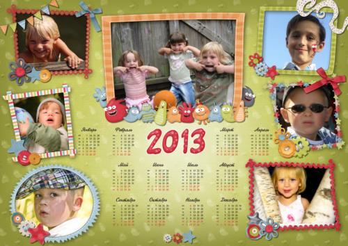 Календари с фотографией на подарок 73