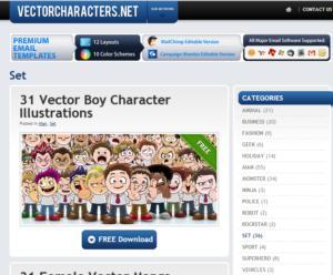 бесплатные персонажи в векторе
